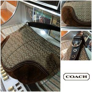 Coach Chocolate Brown Suede, Gorgeous Stit…